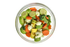 Green salad. With various vegetables Stock Image