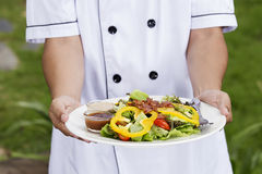 Green salad with bacon Royalty Free Stock Photos