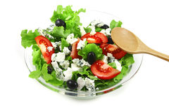 Green salad with blue cheese Stock Image