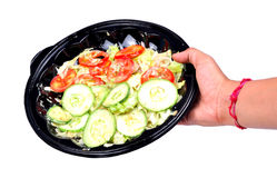 Green salad bowl Royalty Free Stock Photos