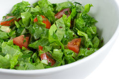 Green salad in a bowl. Shallow DOF Royalty Free Stock Photo