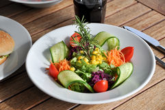 Green salad bowl Stock Photography