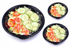Green Salad Bowls Royalty Free Stock Photo