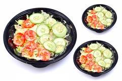 Green salad bowls Royalty Free Stock Photo