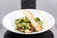 Green Salad With Bread Royalty Free Stock Photos