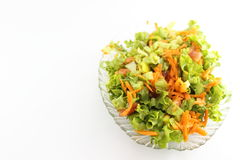 Green salad with carrot Stock Photography