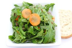 Green salad with carrots Royalty Free Stock Image
