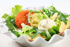 Green salad with cheese Stock Image