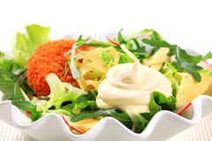 Green salad with cheese Stock Photos