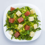 Green salad with cheese and quince Stock Photo