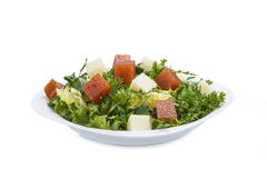 Green salad with cheese and quince Stock Images