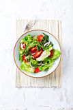 Green Salad with Cherry Tomatoes Stock Photography