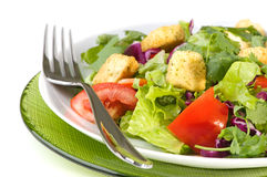 Green Salad With Croutons Royalty Free Stock Photography