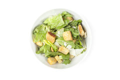 A green salad with croutons and cheese Stock Photo
