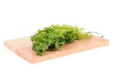 Green salad on cutting board Stock Photos