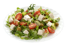 Green salad with feta cheese Stock Photo