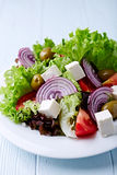 Green Salad with Feta and Olives Royalty Free Stock Photography