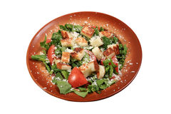 Green salad with haloumi cheese. Fresh green salad with haloumi cheese Stock Images