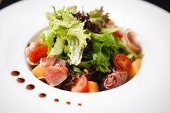Green salad with ham Royalty Free Stock Photos