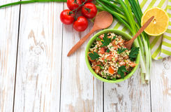 Green salad. Healthy food and vegetarian concept Stock Images