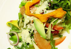 Green salad mix with avocado Stock Images