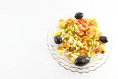 Green salad with olives Stock Photography