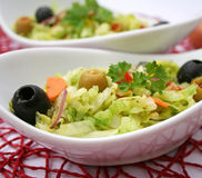 Green salad with olives Stock Image