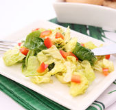 Green salad with paprika Royalty Free Stock Photo