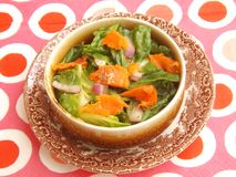 Green salad with salmon fish Stock Image