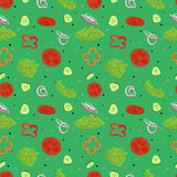 Green salad seamless vector pattern Stock Photography