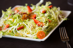 Green salad served Royalty Free Stock Images