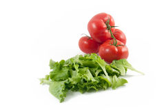 Green salad and tomatoes Royalty Free Stock Images