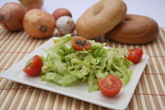 Green salad with tomatoes Royalty Free Stock Photos