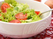 Green salad with tomatoes Royalty Free Stock Photography
