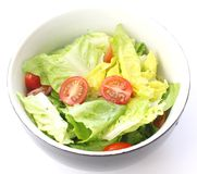 Green salad with tomatoes Royalty Free Stock Image