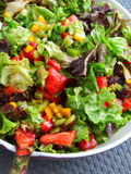 Green salad with tomatoes and peppers Stock Image