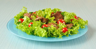 Free Green Salad With Chicken Liver Royalty Free Stock Photos - 20926648