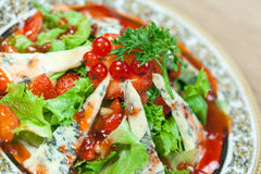 Green Salad With Gorgonzola And Strawberry Royalty Free Stock Photo