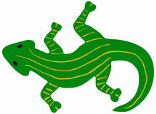 Green salamander Royalty Free Stock Image