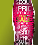 Green sale discount advertisement Stock Images