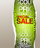 Green sale discount advertisement Stock Photos