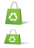 Green sale shopping bags Royalty Free Stock Photo