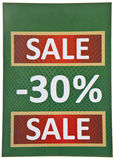 Green Sale Sign Stock Photo