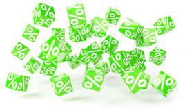 Green sales icons floating in the air 3D rendering. Green sales icons floating in the air on white background 3D rendering Stock Image