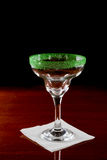 Green salt rim margarita glass Royalty Free Stock Image