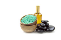 Green salt spa Stock Photography