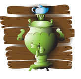 Green samovar Royalty Free Stock Photo