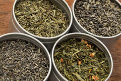 green samples tea Royaltyfria Foton
