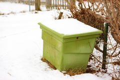 Green sand bin Stock Images