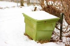 Green sand bin Stock Images